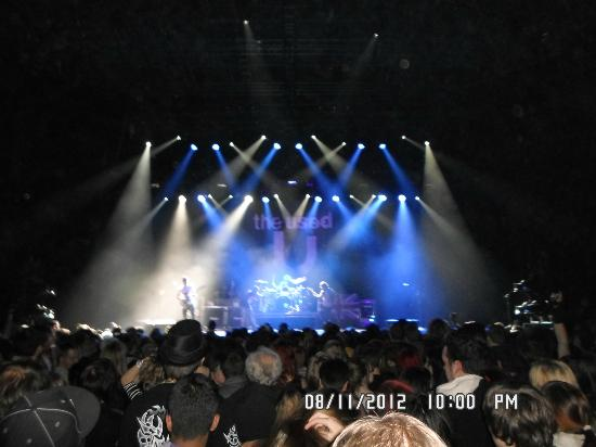 Arena Birmingham: The stage was taken by ''The used''