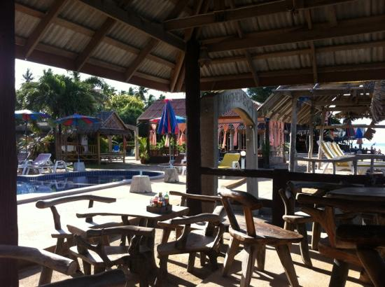 Lanta New Beach Bungalows: zona ristorante