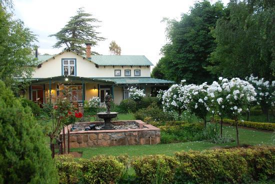 Highland Rose: Garden view on restaurant