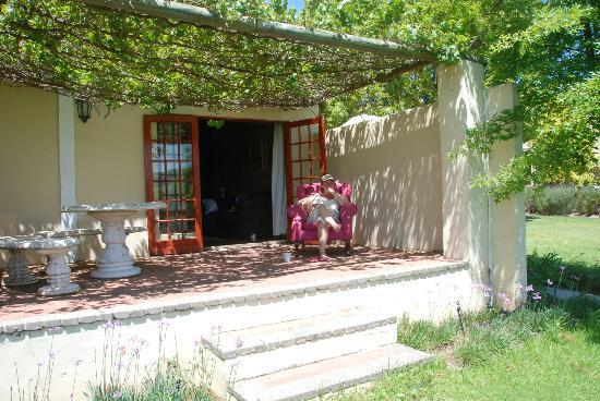 Cultivar Guest Lodge: Pinotage shady Pergola