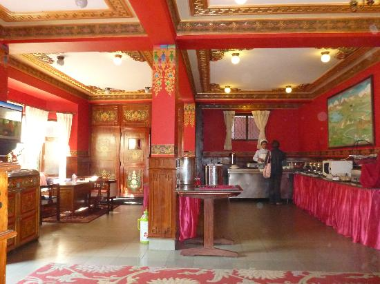 Breakfast/dining room at Hotel Tibet