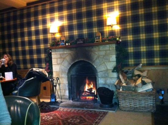 The Swan Hotel: fireplace
