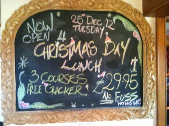 Beachamwell, UK: Only £29.95 for Christmas Day Lunch.