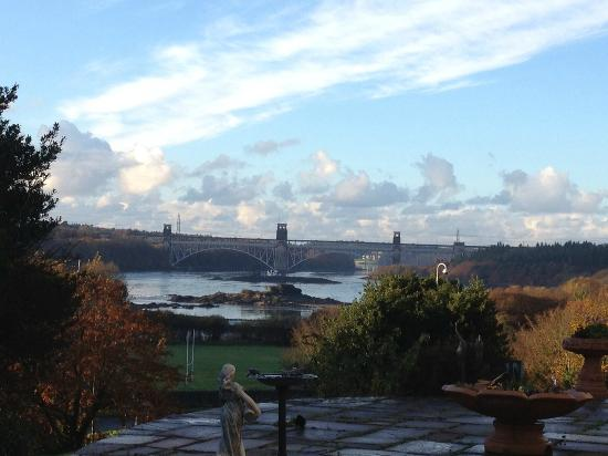 Bryn Aethwy B & B: View from the veranda of Menai Bridge & Straits