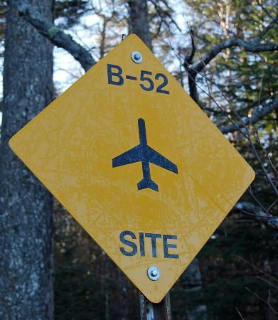 Gulf Hagas: B-52 Crash Site Sign