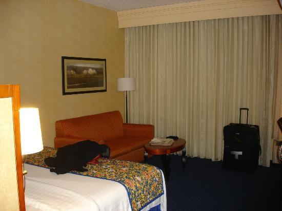 Courtyard by Marriott Lancaster: Reasonably spacious room with sofabed.