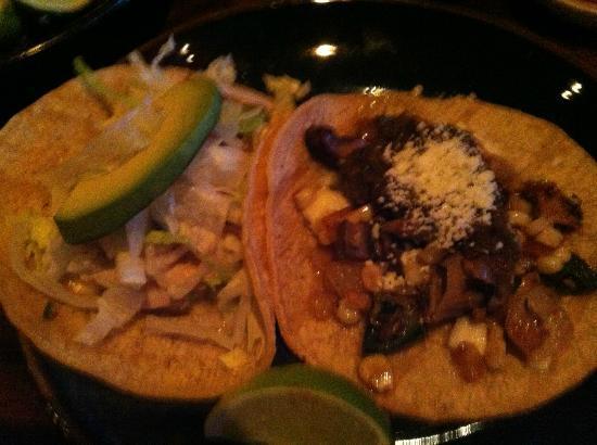 SOL Mexican Cocina: Fish Taco and Corn & Rajas Tacos