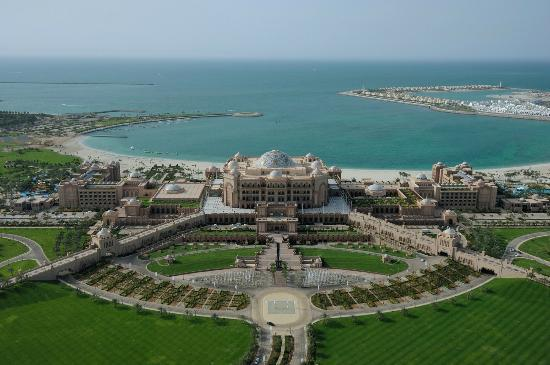 Emirates Palace aerial view