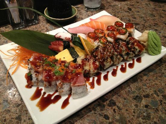 Spicy Tuna: A view of our dinner