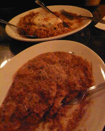 Vincenzo's: Pollo Parmigiana (background) and House Special (foreground)