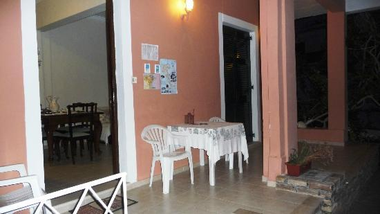Villa Martha: Patio outside entrance door