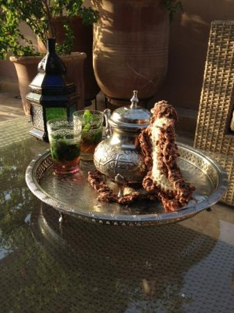 Riad Viva: Mint tea at the terrace