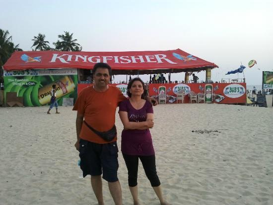 Colva Beach Resort: Beach near Hotel .Vineet & Meenakshi.