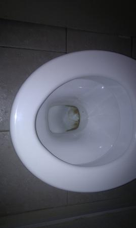 Redcar Hotel: dirty toilet bowl