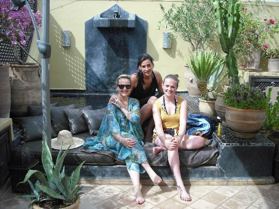 Chilling next to the pool at Riad 41