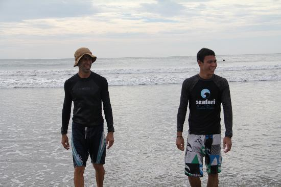 Seafari Costa Rica: Alejandro and Lee, the excellent instructors