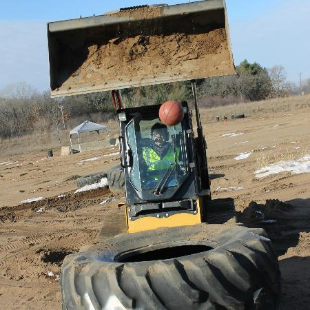 Extreme Sandbox: 'Bucket' Ball-part of obstacle course.