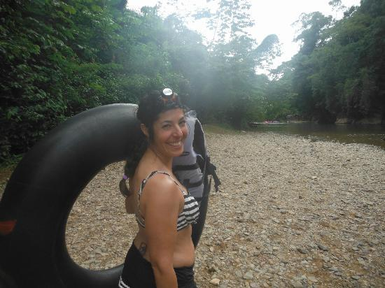 Jose Tours Belize: starting the hike to the caves
