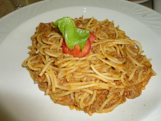 Moon Palace Golf & Spa Resort: Room Service spaghetti bolognese