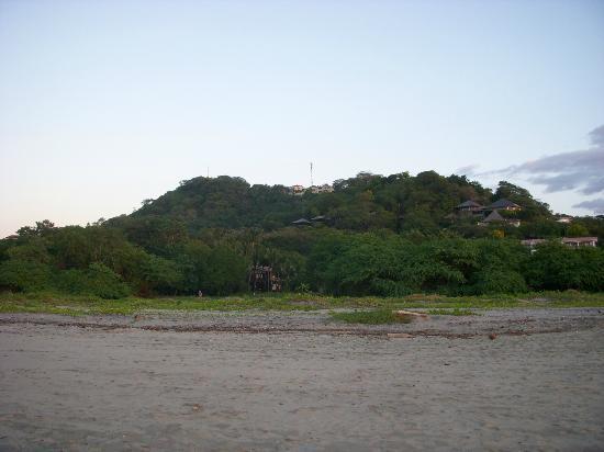 Hotel La Laguna del cocodrilo: vue de la plage ... magnifique hotel dans la verdure