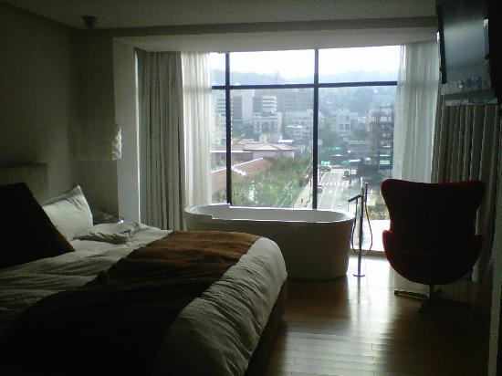 Le Parc Hotel: Vista exterior desde la habitación