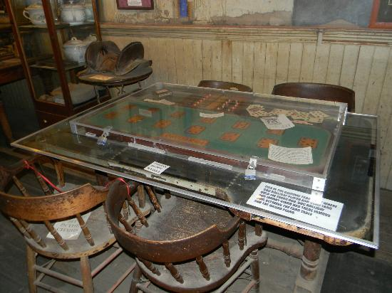 Bird Cage Theatre: Faro Table where Doc Holliday played