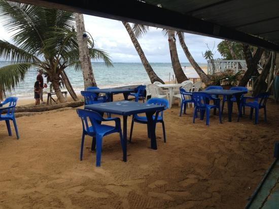 Casa Azul : looking out to beachside tables