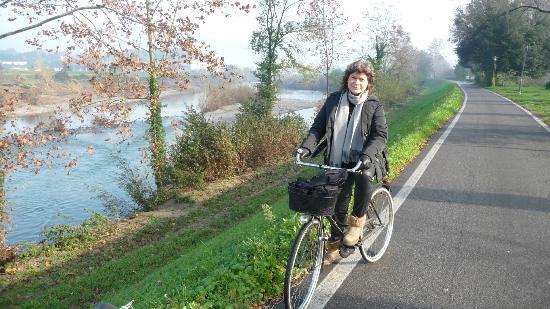 Lucca in Villa San Marco: pista ciclabile Sirchio