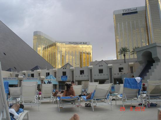 View from tower room luxor picture of luxor las vegas - Luxor hotel las vegas swimming pool ...