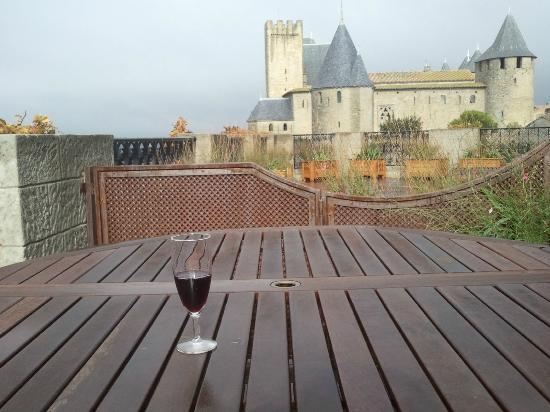 Hotel de la Cite Carcassonne - MGallery Collection: view from our terrace. wine is a must.