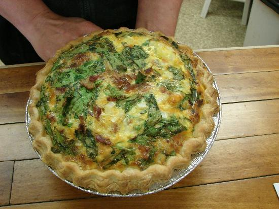 The Mill Stream Deli, Bakery & B.B.Q.: spinach quiche