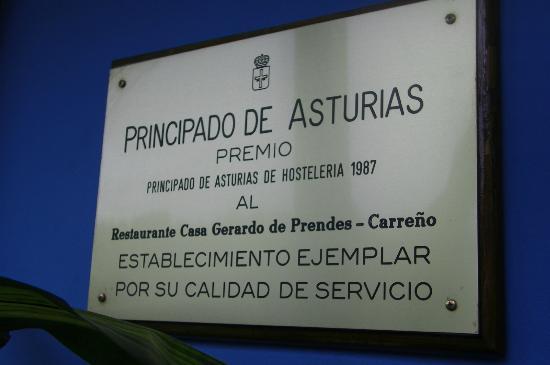 Candás, España: Placa Casa Gerardo