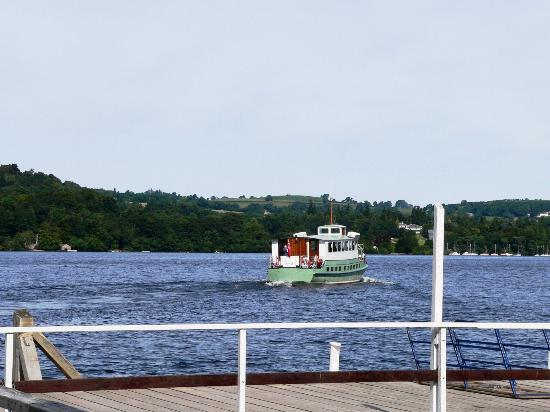 Ullswater Steamers: Steamer drops us off and sails away