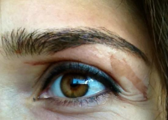 Senza : after waxing my eyebrows