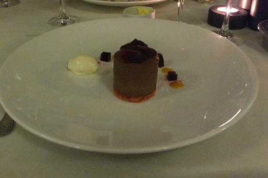 Lindeth Howe: Chocolate dessert with beetroot. Delicious.
