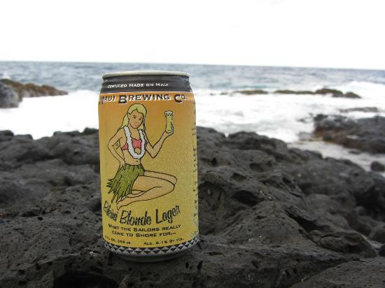 Travaasa Hana, Maui: Picture of local beer at grounds