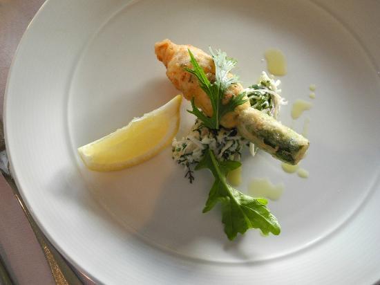 Restaurant Botanica : zucchini flower entree