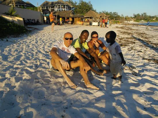 Watamu Beach: Io,Juma,Chiara..Carlo