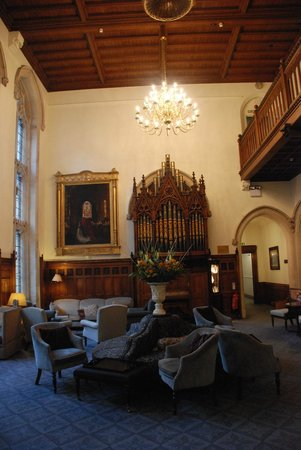 Nutfield Priory Hotel & Spa: the main hall and organ