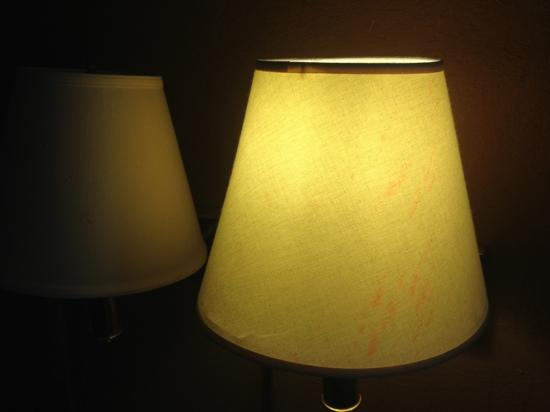 Travelodge Athens: all the lampshades had remnants of a spilled red liquid