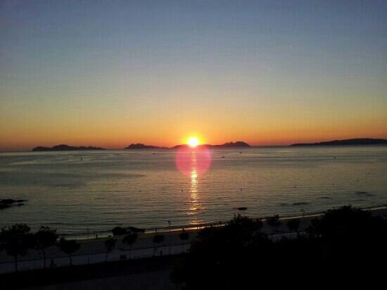 HLG Gran Hotel Samil: Balcony vuew - Sunset 01