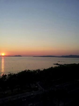 HLG Gran Hotel Samil: Balcony view. Sunset 02