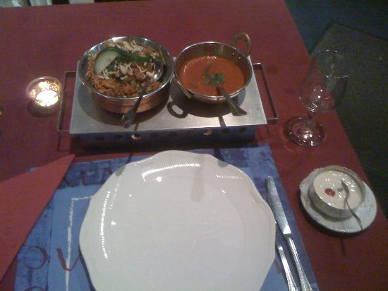 Byriani at Namaste Restaurant, Luxembourg Cuty