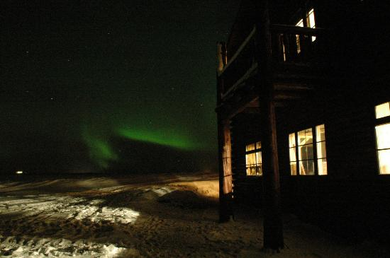 Hotel Ranga: West side of the building, the best place to watch the lights in front as it is sheltered.