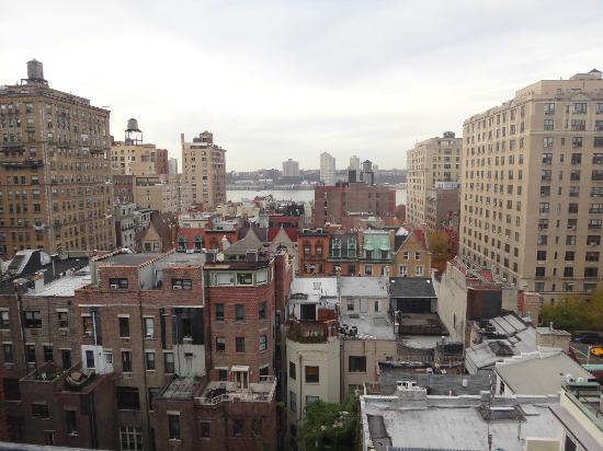 Hotel Belleclaire: View from the 9th floor of the Hudson and neighborhood homes