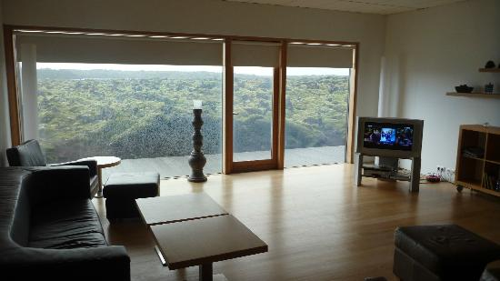 Silica Hotel: Lobby view on the lava field