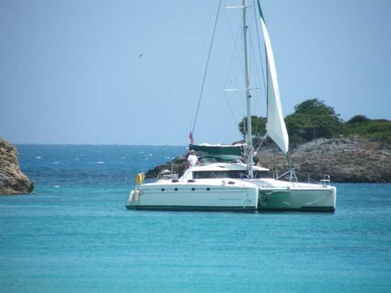 Keyonna Beach Resort Antigua: Sail Boat at Johnson's point