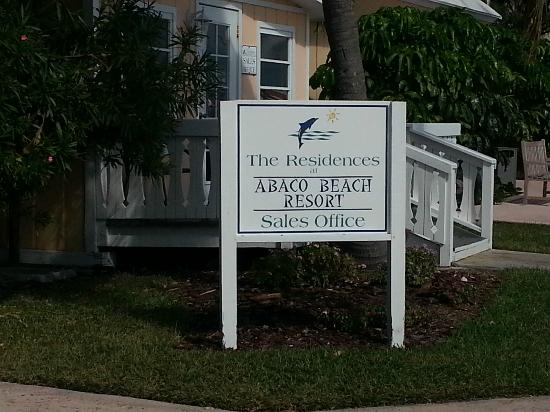 Abaco Beach Resort and Boat Harbour Marina: Sales office