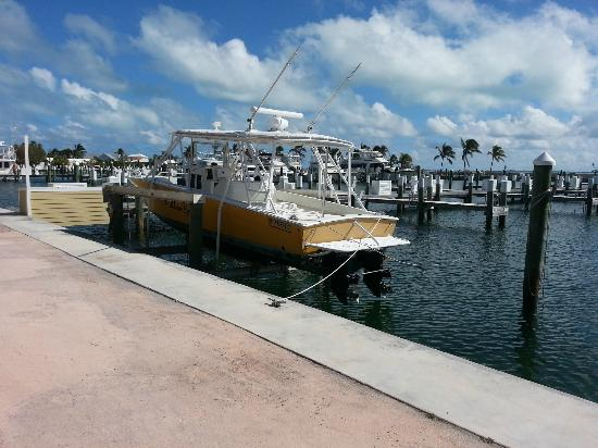 Abaco Beach Resort and Boat Harbour Marina: boat docked in marina