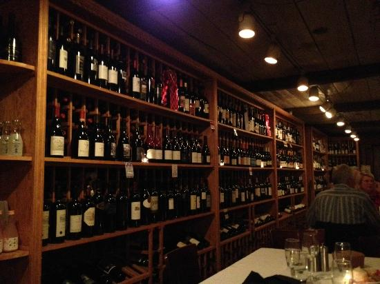 Chandler's A Restaurant : Dining in the wine cellar